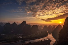 I Am The Day Soon To Be Born (Anna Kwa) Tags: xianggonghill 相公山 sunrise liriver 漓江 karstmountains yangshuo 阳朔县 guilin 桂林 guangxi southwest china annakwa nikon d750 afszoomnikko1424mmf28ged my day light always hope begin alpha omega beginning end seeing heart soul throughmylens travel world memories iamtheday libera
