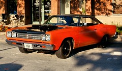 if orange is the new black then what color is the hood?? (Stu Bo) Tags: orange mopar musclecar oldschool onewickedride oneofakind beauty beautiful bestofshow hangingoutwiththefamily hotrod horsepower certifiedcarcrazy classiccar coolcar dreamcar sbimageworks shadows showcar smooth sunlight scenery summer sexy slammin sexonwheels beast vivid vintagecar vintageautomobile worldcars warrior wheels ride rebel reflections car