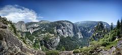View of upper Mist Trail from near Grizzly Peak - Yosemite (Bruce Lemons) Tags: yosemite yosemitenationalpark yosemitevalley california sierra sierranevada mountains hike backpacking hiking wilderness grizzleypeak libertycap vernalfall nevadafall emeraldpool panoramapoint waterfalls misttrail