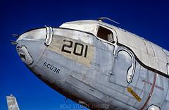 Tucson aircraft boneyard (rolfstumpf) Tags: usa arizona tucson aircraft plane aviation boneyard junk blue velvia dc3 usaf douglas c47