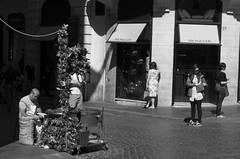 looks away (Matteo Moruzzi) Tags: street portrait rome roma square 50mm spain pentax streetphotography da di piazza f18 dei spagna k5 monti trinità