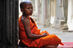 A novice's portrait (and a fly) (SLpixeLS) Tags: portrait temple asia cambodge cambodia monk angkorwat asie siemreap novice moine platinumheartaward earthasia