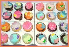 Butterfly cupcakes by Lourdes, Camden County, NJ, www.birthdaycakes4free.com