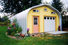 Yellow Shed in the Garden