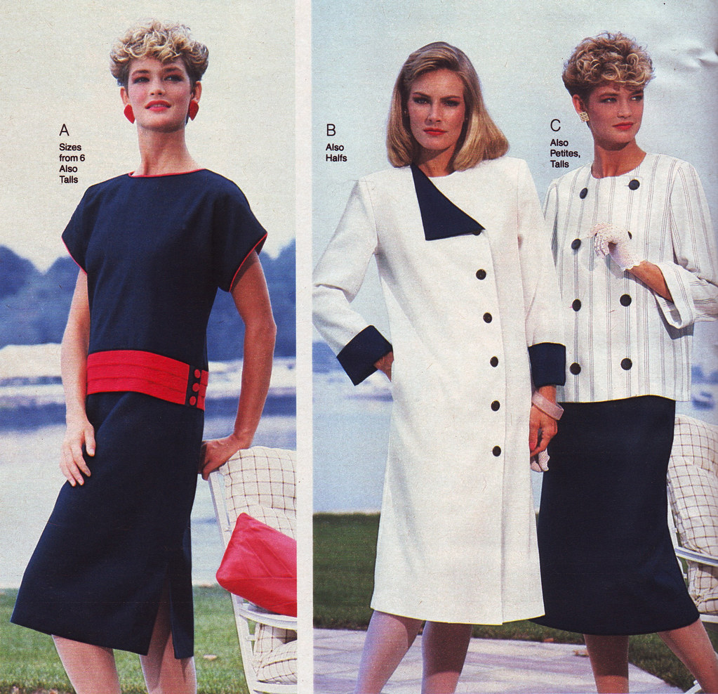 c6cff66d36 Penneys 85 ss 3 dresses (jsbuttons) Tags  clothing buttons womens 80s jc  catalog