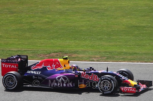 Daniil Kvyat in qualifying for the 2015 British Grand Prix at Silverstone