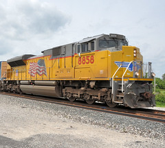 UP#8858 EMD SD70AH ROSTER BUILDING AMERICA MAPLE GROVE BETTSVILLE,OHIO 6-22-15 MONDAY (penn central 74) Tags: wings flags unionpacific roster maplegrove electromotive buildingamerica narlo progressrail bettsvilleohio emdsd70ah 062215 up8858