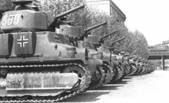 French built Somua S35 Tanks of the German Army