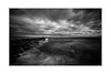 watching the distant rain (photography by Ross Spirou) Tags: longexposure seascapes melbourne fineartphotography blackandwhitephotography portphillipbay bwnd110