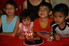 Birthday at local family, Borneo, Malaysia