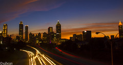 Atlanta skyline from Jackson Street Bridge (xubean) Tags: city longexposure atlanta skyline night georgia cityscape nepali nepaliphotographer