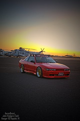 Lift. (aaron_boost) Tags: canon airplane hawaii airport nissan oahu aircraft aviation wwii silvia canon5d honolulu canoneos aviator pilot airstrip hks 240sx greddy nismo nardi apexi s13 sr20det kapolei friendlyskies aircraftmechanic johnrodgersfield s13coupe schassis aviationfield aaronboost silviafront silviarepublic dualn1 aaronboostgarage coupelove aaronboostphotography greddyfv s13aero