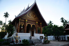 Luang Prabang (makingacross) Tags: laos pdr luang prabang luangprabang nikon d3000 louangphabang luangphabang phabang wat vat aham temple trees hanuman ravana