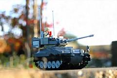 CVRT Scimitar (ABS Defence Systems) Tags: lego tank afv cvrt scimitar light outdoors evening colour brickmania track links wip british army uk rac