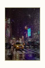 Taxi..... ! (Krasne oci) Tags: taxi city newyorkcity nightphotography people cold winter bigapple evabartos snow timessquare manhattan usa streetphotography lights