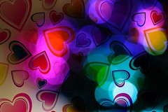 Hearts and Bokeh (CCphotoworks) Tags: vibrant colourful abstract pretty greetings valentinesday hearts bokeh