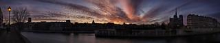 Paris Sunset Panorama