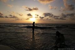 Atardecer Golfo de Uraba (Ivan Mauricio Agudelo Velasquez) Tags: silueta dog perro sea caribe cloud nube