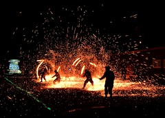 Fire Dance (Wenchieh Yang) Tags: welovetaiwan imageaasia trip wow 2016 iphone365 iphone dance light red firedance night fire 愛台灣 露營 學生 教官 火舞 台南 崇明 崇民國中 flickrunitedaward