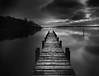Loch Lomond Jetty (robdonnelly) Tags: monochrome lochlomond scotland highlands longexposure calm lake jetty water atmosphere blackandwhite bw
