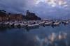 Lerici Cloud's reflection (moniq84) Tags: liguria sunrise sunrises sunset sunsets sun clouds sole nuvole tramonto lerici castle riviera levante la spezia tigullio pink colors sea seascapes paesaggio panorama blue hour