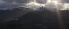 Sunburst Over Grisedale Pike (Nick Landells) Tags: sun burst rays crepuscular grisedalepike eelcrag craghill sail hopegillhead lakedistrict light snow