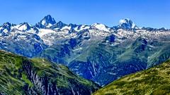 Finsteraarhorn (4274 m) and Lauteraarhorn (4042 m) (frodeturer (check albums for themes / places)) Tags: alps alpine alpen schweiz switzerland nufenen pass mountain passo passodellanovena peak