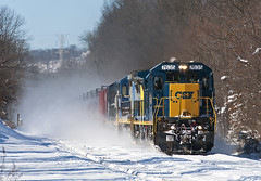 How Tomorrow Moves...Through the Snow (Erie Limited) Tags: csx ge c408 piscatawaynj lehighline