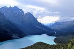 Peyto Lake (Patricia Henschen) Tags: banff banffnationalpark nationalpark icefieldsparkway park parks parcs parkscanada peyto lake bowsummit peytolake mistayariver glacier creek rockflour mountains mountain canadian canadianrockies rockies rocky rockymountains clouds