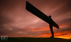 Angel Delight (ianbrodie1) Tags: angel north gateshead sculpture sunset big colour colourful long exposure haida nikon d750 antony gormley east steel