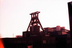 Zeche Zollverein (somekeepsakes) Tags: 2013 essen fujivelvia100 ruhrgebiet yashicaelectro35gsn analog analogue crossprocessed deutschland europa europe film förderturm germany industriekultur ruhrpott xpro zechezollverein