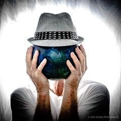 Portraits (jkardysphotos) Tags: nikond7100 johnkardys portraits oldman nikoncls bowlingballhead ballhead blueball bowlingball hat ballandhat