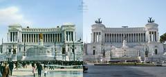 Il Vittoriano - http://bit.ly/1RgvBW7 (Roma Ieri Oggi) Tags: old rome roma foto layers merge rephotography piazzavenezia vittoriano vecchie nuove sovrapposizione romaierioggi