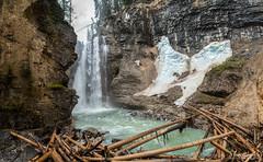 Johnston Canyon Upper Falls (glendon27) Tags: vacation snow canada water river waterfall alberta banff johnstoncanyon
