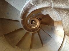 Spiral (D Stewart PDX) Tags: barcelona stairs spiral spain ipod sagradafamilia