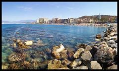 Desde el espign (Sanru2k13) Tags: sea panorama espaa costa beach azul mar andaluca playa granada g3 torrenueva mvil