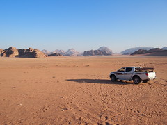In The middle of Wadi Rum!