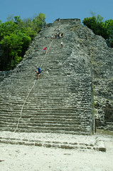 Coba Mayan Ruins - Stairs to the Temple (Sameer Bhadouria) Tags: vacation coba sameer sukrutha mexico2015
