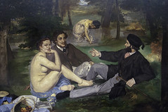 'Luncheon on the Grass' by Edouard Manet (Greatest Paka Photography) Tags: paris france art museum painting nude picnic artist rejected museedorsay manet controversial salondesrefuses thebath edouardmanet luncheononthegrass parissalon exhibitionofrejects