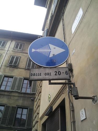 Dans une rue de Florence, Italie