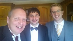 Me, John Ross and Niall (Donald Morrison) Tags: family wedding friends white kilt christian weddingdress isleoflewis crossbost barvas crossskigerstaroad