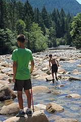 Golden Ears Summer, downd the river (Gordana AM) Tags: park summer two mountain canada hot cold green eye nature boys water childhood kids vancouver creek forest river walking children outdoors photography golden photo maple rocks photographer bc natural brothers hiking britishcolumbia july ears down hike falls clean adventure clear ridge lower refreshing boyhood emerald swiming jewel portcoquitlam provincial pristine gordana lowermainland lepiafgeo wwwgordanaphotocom gordanamladenovic