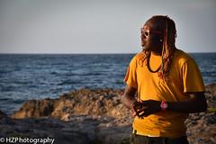 Near Lucea (Heidi Zech Photography) Tags: ocean sunset man water dreadlocks cliffs jamaica caribbean dread jamaicanman