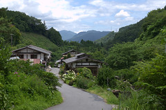 Village on route Magome - Tsumago trail