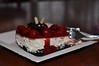 cheesecake mouse (ladybugdiscovery) Tags: mouse truffle cheesecake cake cheese tasty dessert fork yummy cherries macrodesserts