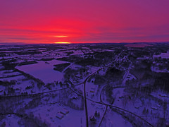 Take 2 (Matt Champlin) Tags: sunrise amazing aerial aerialphotography dronephotography drone drones life beautiful pink glow dji djiphantom4 phantom4 djiphantom winter cold snow snowy skaneateles ny fingerlakes farm rural