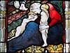 Tears on the road to Calvary (badger_beard) Tags: magdalene college chapel university cambridge vitrail calvary golgotha mother children
