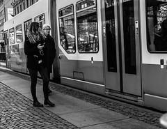 Tramspotting (Henka69) Tags: street gothenburg göteborg streetphoto tram spårvagn publictransport monochrome bw