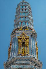 2016_04-Bangkok-M00100 (trailbeyond) Tags: architecture asia bangkok blue building gold location outdoors pattern religiousbuilding statue temple templeoftheemeraldbuddha texture thailand thegrandpalace tower watphrakaew white