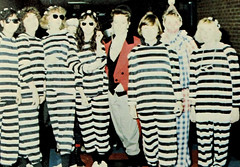 Stripes (~ Lone Wadi ~) Tags: stripes prisoners costumes handcuffs shackles halloween party retro 1980s costumed ladies